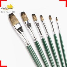 Hot Sale Top Quality Mongoose hair Artist/oil brush For Art Picture Flat Shape Brush Head