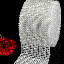 24 rows Diamante trimming rolls, stretch plastic rhinestone beaded banding trimming on sale