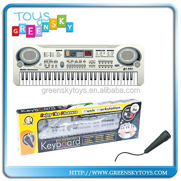 Cheap 61keys electronic piano w/microphone and usb