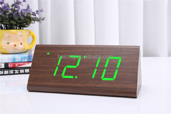 2017 Fujian Hairong Wholesale Wooden Clock Bamboo Clock LED Clock