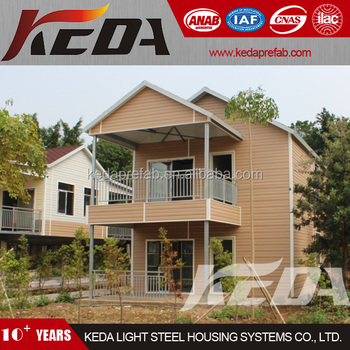 Light Steel Prefabricated Villa House Home By the Beachside