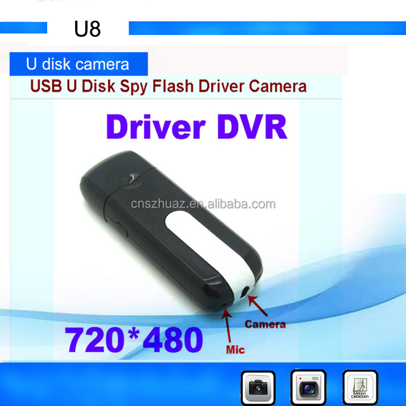 high quality Mini DVR U8 <strong>USB</strong> <strong>Disk</strong> 720*480P CCTV Camera Motion Detector Video Recorder mini camcorders