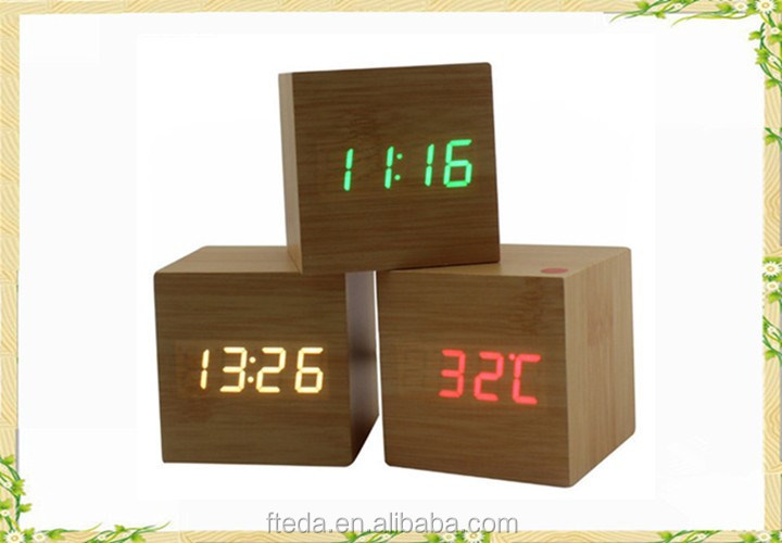 Chinese imports wholesale eco-friendly alarm wooden clock