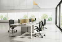 modular 4 people office desk (DIA-series)