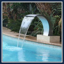 modern style stainless steel spa waterfall