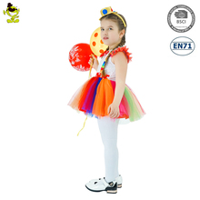 Kids Halloween Costume Colorful Skeleton tutu Fancy Dress Girls Party Masquerade Costume