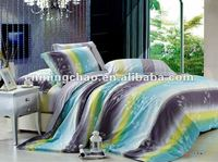 ocean color printed cotton bed sheet set queen king bed in a bag set