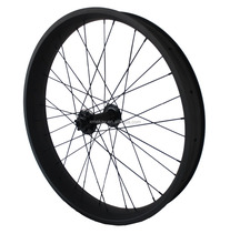 China Snow bike wheels 26er 80mm 100mm width carbon clincher fat bicycle wheelset