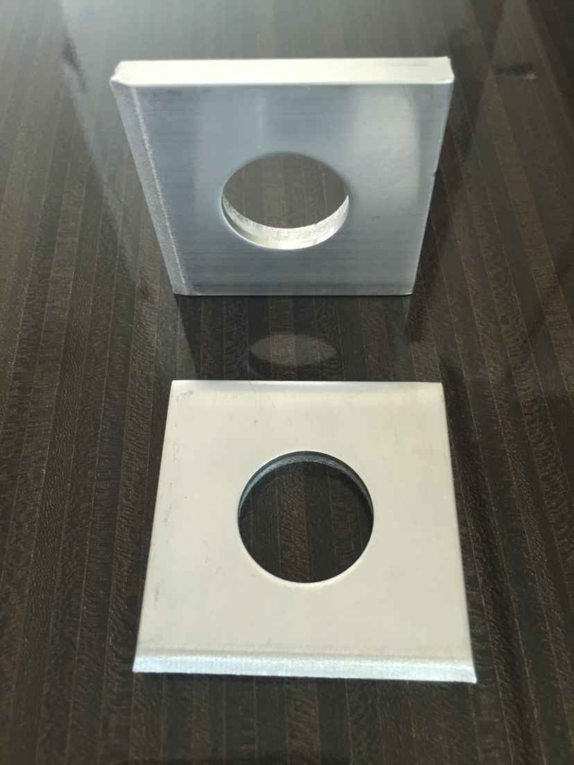 50x50x5mm in stock aluminum alloy /stainless steel washer as your samples,drawings, SGS,Rohs,ISO OEM,ODM