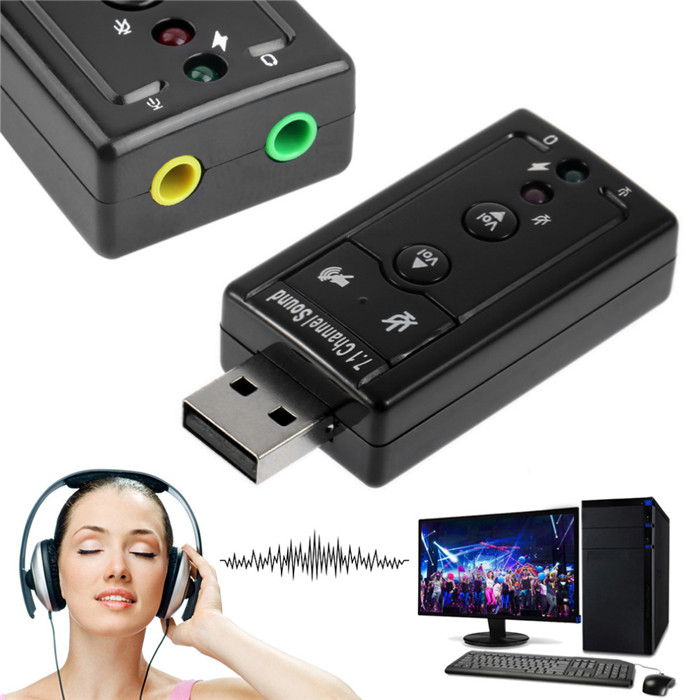 Wholesale external audio usb 2.0 to 3.5mm 7.1 channel 3d sound card