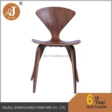 Modern Stylish Organic Crafted Walnut Dining Chair Home Decor Furniture Brown