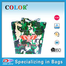 2015 Popular PP woven travel bags, camouflage color travel luggage bags , latest model travel bags