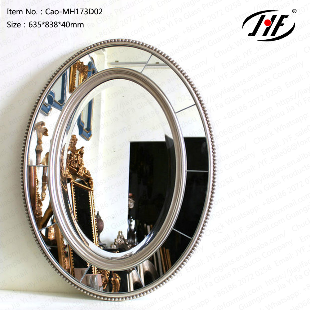 Cao-MH173D02 oval wood frame mirror,standing mirror,cut mirror pieces