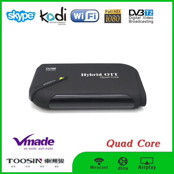 Android TV Box Digital Satellite Receiver DVBT2+Cable Amlogic S805 1G+8G Set Top Box