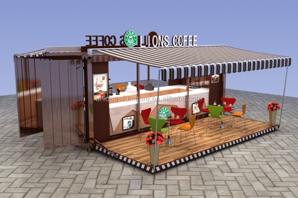 2016 Hot sale container coffee kiosk design | coffee shop kiosk for sale