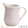 Hot selling Delicate Emboss Stoneware Houseware Ceramic Pitcher