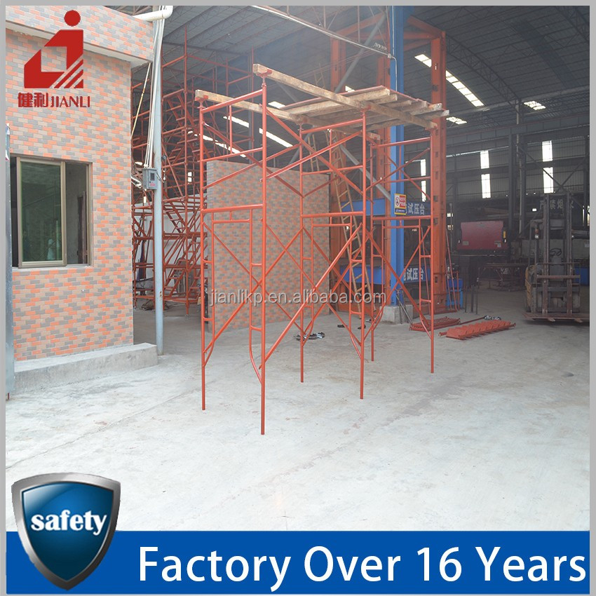Construction Steel Painted H Frame Scaffolding Models For Sale