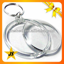 plastic keychain photo holder, blank acrylic key chains