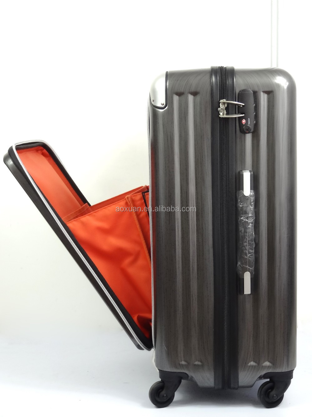 front pocket luggage front pocket zippered luggage abs pc luggage