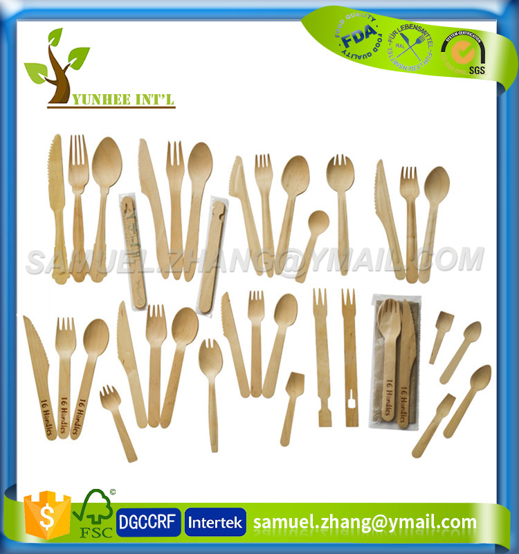 Biodegradable Birch Wood Disposable Cutlery