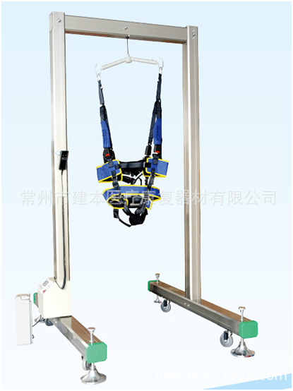 single frame electric reduce weight gait training rehabilitation equipment