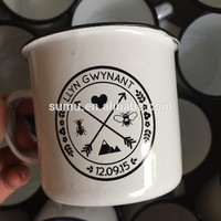 High Quality 150g ceramic custom logo printing enamel mug