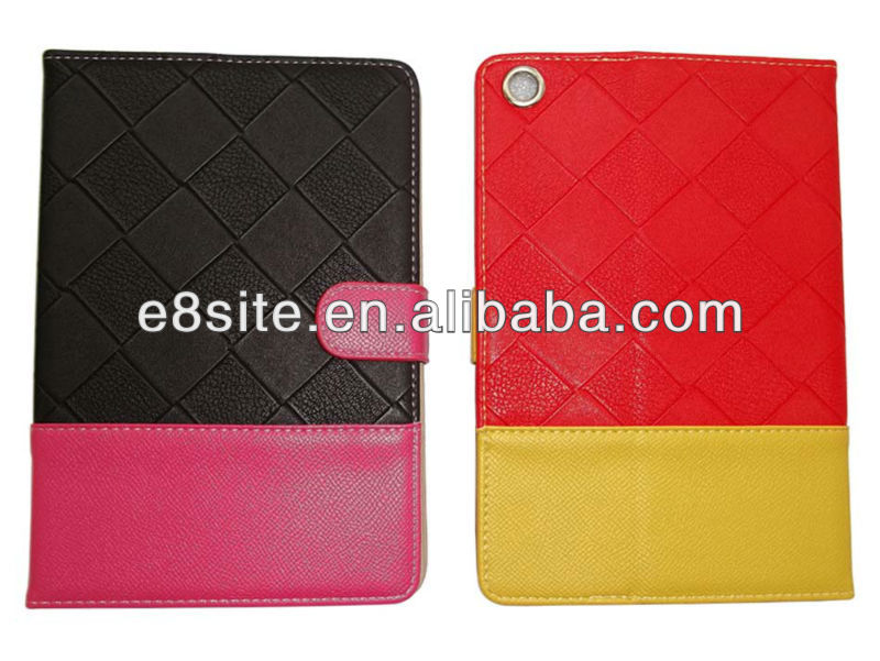 For iPad Mini Popular Design Leather Cover Case