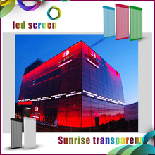 Waterproof Transparent Glass Led Display/ Large Led Media Facade/Led Display