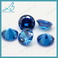 57 perfect cutting facets 1.25mm aquamarine wholesale cubic zirconia stone