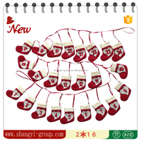XM13-06 Christmas tree felt hanging advent stocking decoration