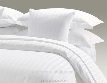 Luxury Star Hotel Twill Woven Tone On Tone Satin Stripe Duvet Cover