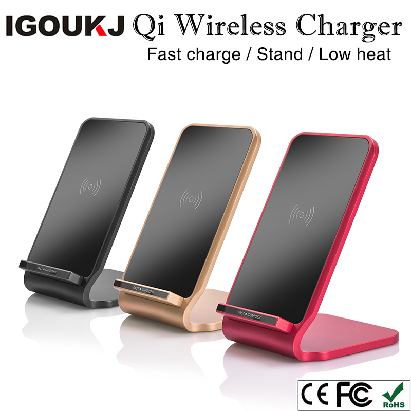 Free shipping Phone holder universal Qi wireless charger for Galaxy note8 9V fast wirelss charge station for iphone stand