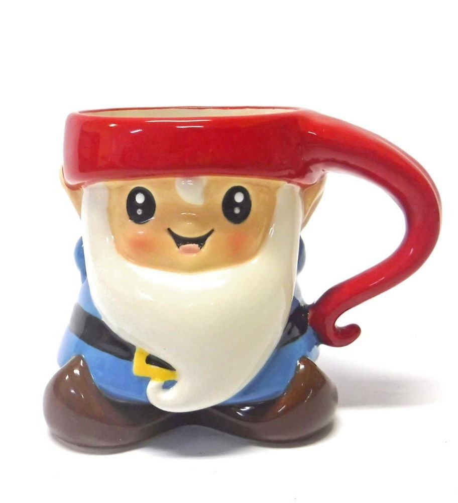 Unique New 3D Ceramic Garden Gnome Coffee Mug