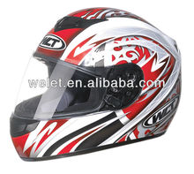 ECE helmet, Full face helmet, Crash helmet WLT-101 Whit/Blue 1#