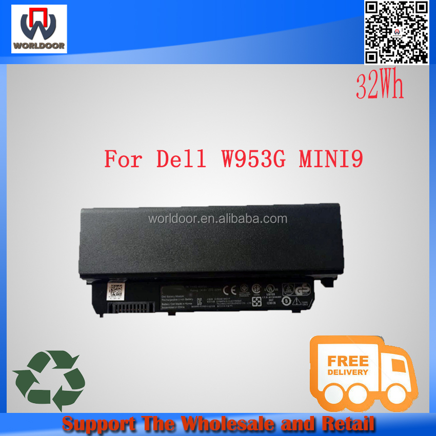 14.8V 32W 100% new original W953G li-ion Laptop Battery for Dell MINI9 9n for dell laptop battery