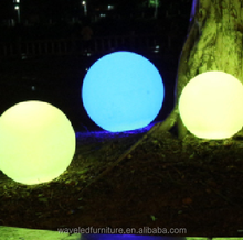 Hot sell waterproof rechargeable led flash light ball for night decoration with remote control