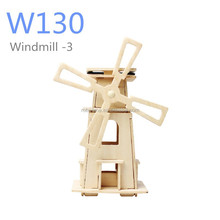 DIY Solar Wooden toy Windmills