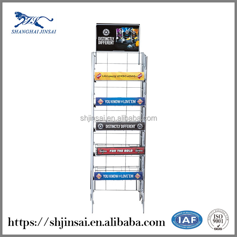 Factories Price Shopping Online Bimetallic Display Shelving For Retail Stores