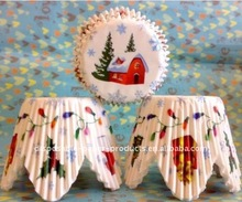 Wholesale Christmas House Petal Cupcake Liners cases Baking Cups