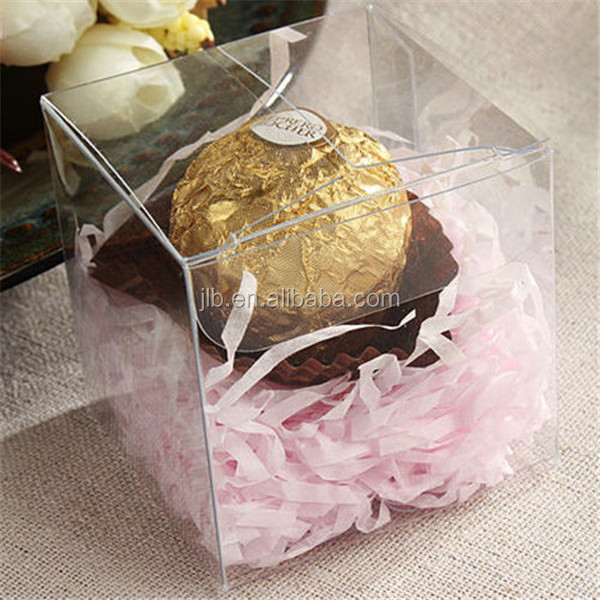 clear pvc box molded plastic transparent gift packaging