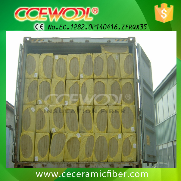 High Quality 100kg/m3 density pipe thermal insulation rockwool board