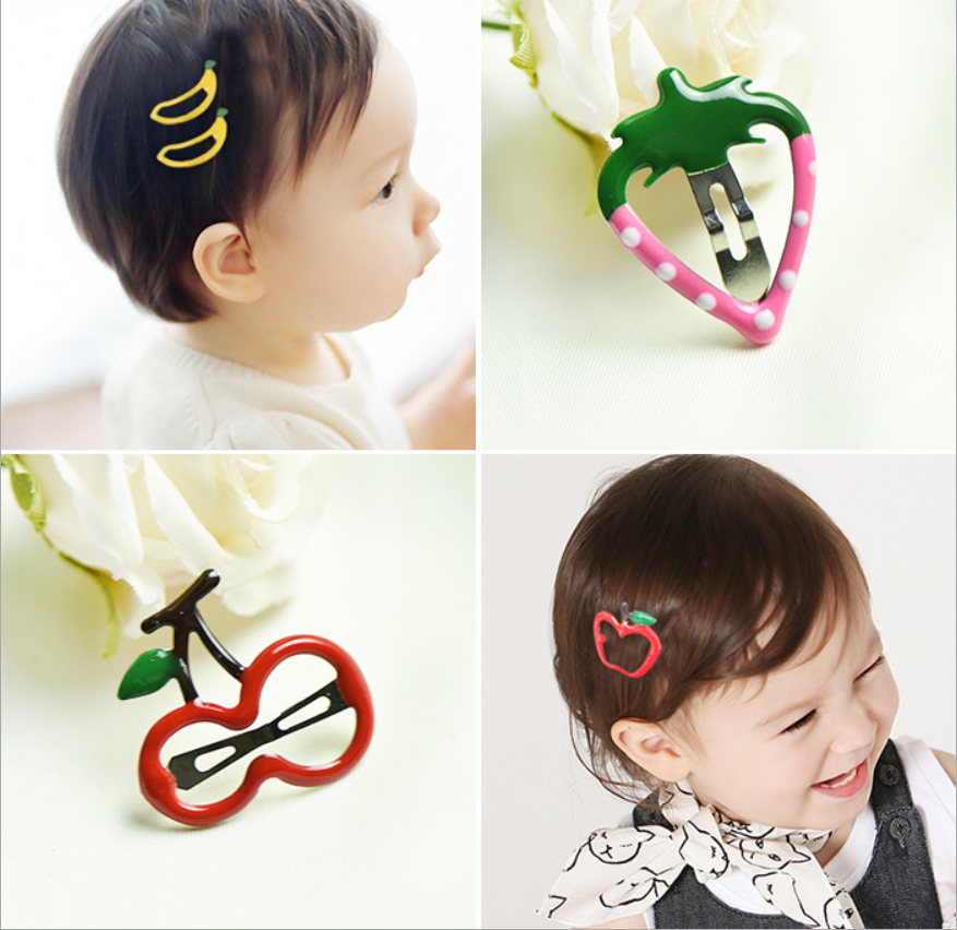 2017 Addilyn Wholesale baby children's hair clips fruit accessories