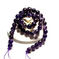 Tryme Wholesale AAA+ Faceted Amethysts Deep Purple Natural Stone Beads For Jewelry Making DIY Bracelet 4/ 6/8/10/12 mm Strand 15