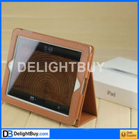 Smart Cover/ stand synthetic leather /PU Case for iPad 2/3 (light brown)