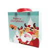Christmas Cartoon Santa Reindeer Waterproof Non woven Tote Bag Clothing Gift Shop Shopping Bag