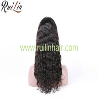 2016 High Quality Full Cuticle Hair Indian Hair Full Lace Wig For Wholesale