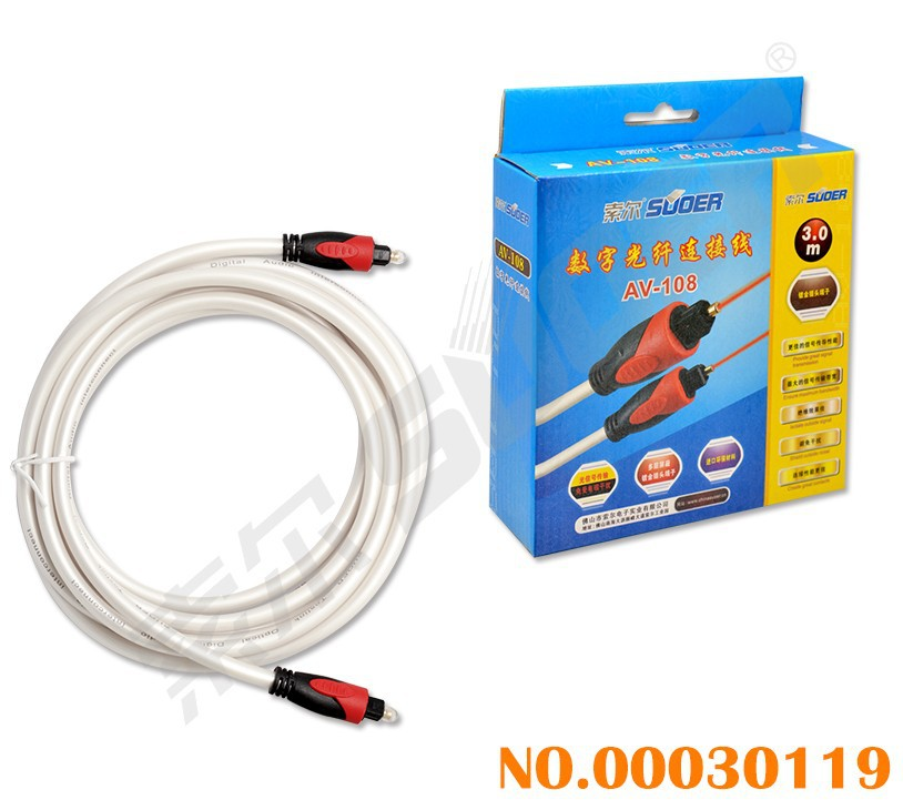 Digital Audio Optic Fiber Cable (AV-108-3m-Optic Fiber Cable)