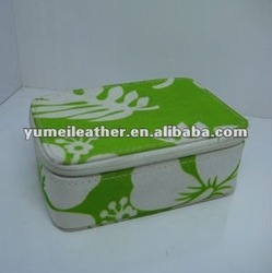 2012 fashion lady's full printing pu leather cosmetic bag