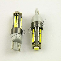 Low Defect Rate Bright 6000K White 400LM 194 147 168 W5W 501 T10 27SMD 4014 LED Car Side Wedge Light