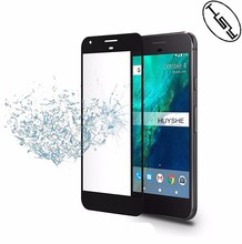 Huyshe Mobile Phone Use 2.5d silk printing Full Curved tempered glass screen protector for google pixel xl